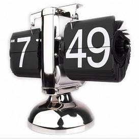 Уникальные перекидные часы Flip Clock 1B Черные в деловом стиле ретро