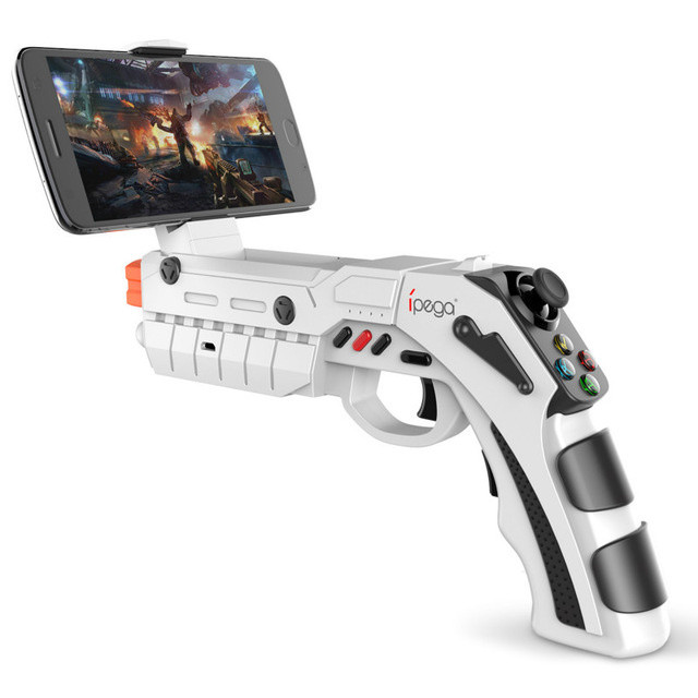 Беспроводной геймпад iPega PG-9082 Bluetooth Android/iOS White (AR GUN PG-9082)