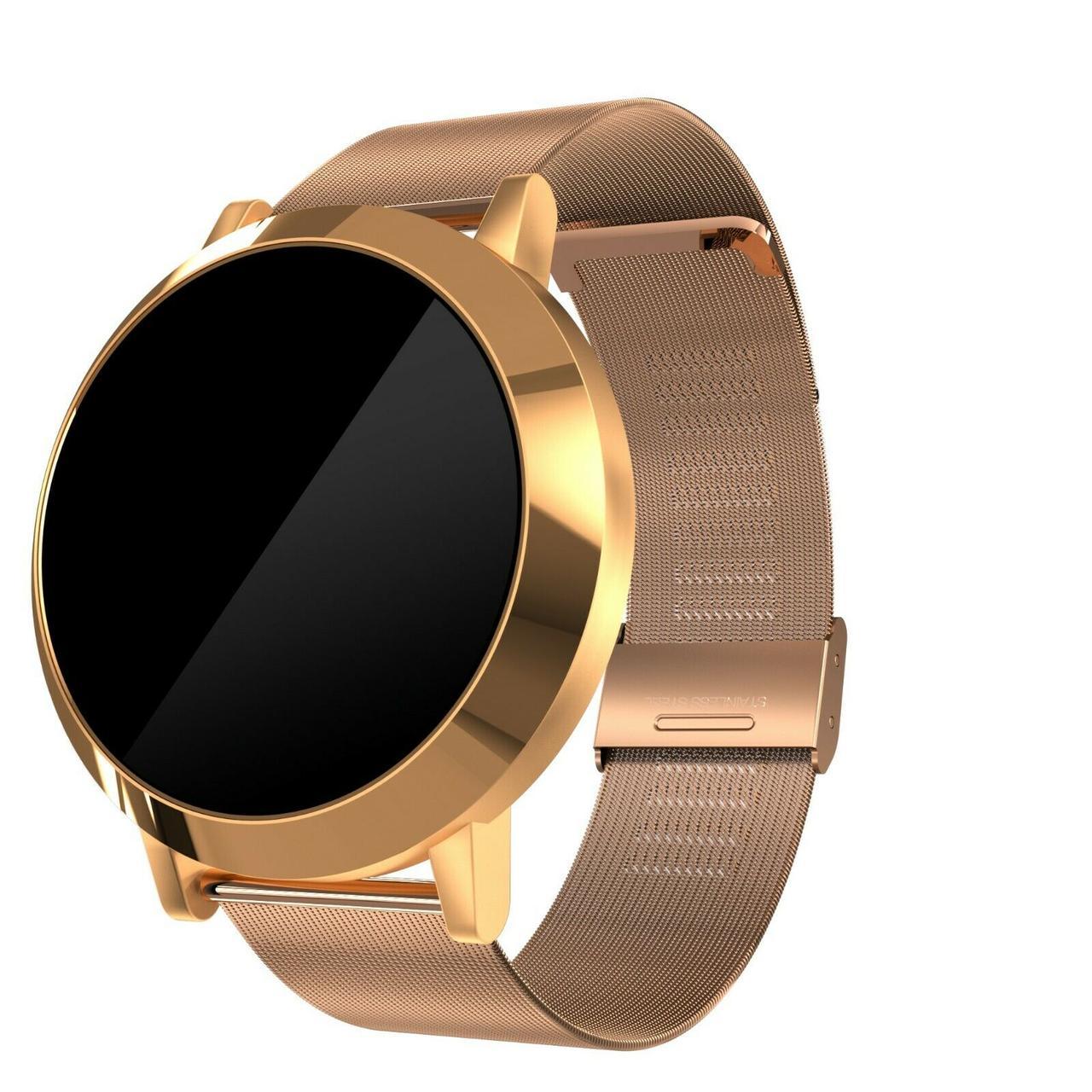Смарт часы Smartix Smart Watch X6A Gold IP68 с мониторингом сердечного ритма золотистые