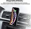 Автомобильная беспроводная зарядка-держатель Pitaka Magmount Qi Pro Car Vent Black (CM002Q), фото 7