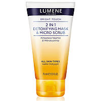 Детокс-маска и микро-скраб Lumene Bright Touch Detoxifying Mask & Scrub 2 in 1