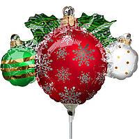 Фольгированный шар мини-фигура Елочные игрушки