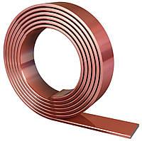 Омедненная стальная полоса 25х4 мм