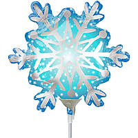 Фольгированный шар мини-фигура Снежинка