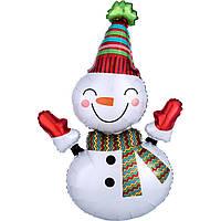 Фольгированный шар большая фигура Снеговик