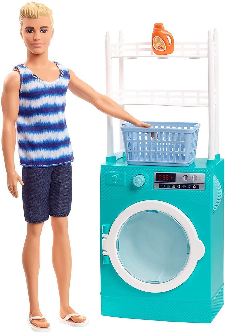 Игровой набор Кукла Барби Кен и стиральная машина Barbie Ken