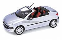 Машинка металл 1:24 Peugeot 206CC WELLY