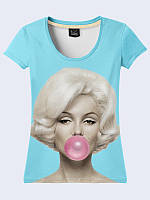 Женская футболка Мэрилин со жвачкой