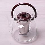 Заварник Kamille 1400мл со съемным ситечком и бакелитовой ручкой, фото 2