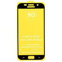 Защитное стекло AVG 9D Full Glue для Samsung A7 2017 / A720 полноэкранное черное