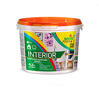Интерьерная акриловая краска сухое стирание Interior Nano farb 4.2 кг