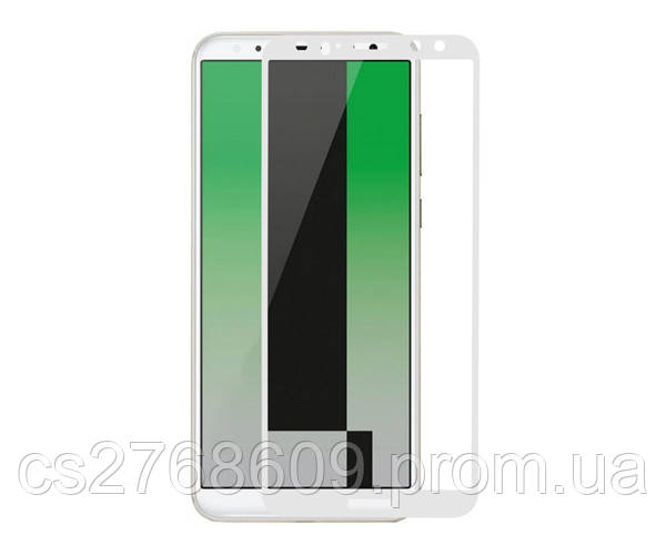 Защитное стекло / Захисне скло Huawei Mate 10 Lite, RNE-L21, RNE-L01 білий 6D Full