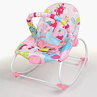 Шезлонг-качалка детский 6921 розовая