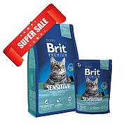 Сухой корм для котов Brit Premium Cat Sensitive 0,8 кг
