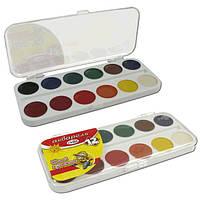 Краски акварельные медовые Гамма юный художник 12 цветов