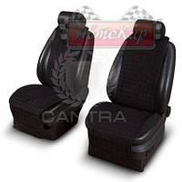 Чехлы CANTRA на передние сиденья с ушками ✓ 2шт.✓ рисунок: квадрат