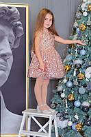 Сверкающее платье с подъюбником  для девочек, фото 1