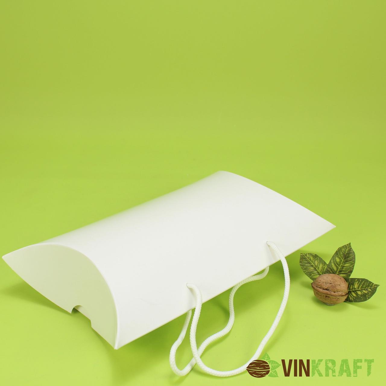 Подарункова коробка 230*70*180 з ручками, біла