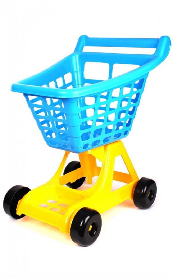 Тележка для супермаркета ТехноК Желто-голубой (4227)