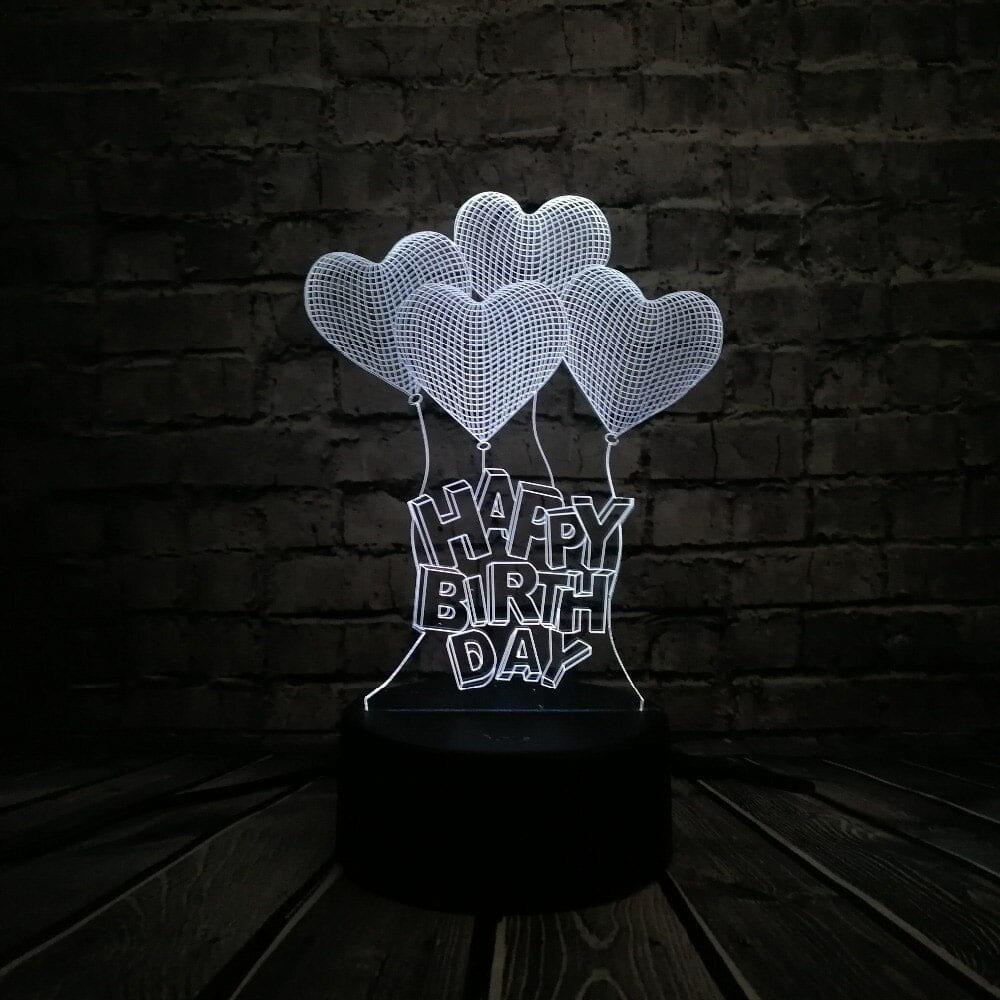 Сменная панель для 3D светильника 3D Lamp День Рождения v2 (SP-3108)
