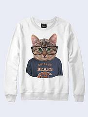 Свитшот женский Cat Chicago Bears