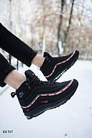 Мужские зимние кроссовки на меху Nike Air Max 97, черные