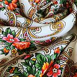 Весёлые деньки 1879-2, павлопосадский платок шерстяной с оверлоком, фото 5