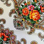 Весёлые деньки 1879-2, павлопосадский платок шерстяной с оверлоком, фото 6