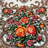 Весёлые деньки 1879-2, павлопосадский платок шерстяной с оверлоком, фото 3