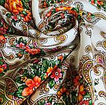 Весёлые деньки 1879-2, павлопосадский платок шерстяной с оверлоком, фото 8
