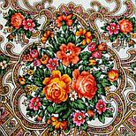 Весёлые деньки 1879-2, павлопосадский платок шерстяной с оверлоком, фото 7