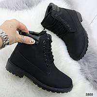 Женские зимние ботинки черного цвета, эко кожа (под нубук) 36 41 ПОСЛЕДНИЕ РАЗМЕРЫ