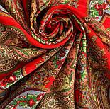 Царевна-лягушка 1447-5, павлопосадский платок шерстяной с просновками с подрубкой, фото 9