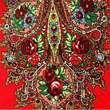 Царевна-лягушка 1447-5, павлопосадский платок шерстяной с просновками с подрубкой, фото 6