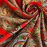 Царевна-лягушка 1447-5, павлопосадский платок шерстяной с просновками с подрубкой, фото 5