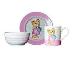 Набор детской посуды Медвежонок девочка 3 предмета Keramia 21-272-016