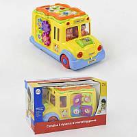 Машинка 796 24-2 Школьный автобус, свет, звук, на батарейке - 184301