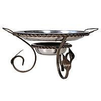 Подставка для подогрева мяса шашлыка Садж с коваными элементами 360 мм (РК-212736)