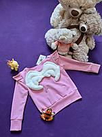 Світшот з крильцями і крилами на спині з двонитки вишневий та інші кольори Детская кофта