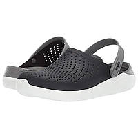 Сабо Crocs LiteRide Clog Black/Smoke - Оригинал