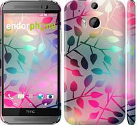 """Чехол на HTC One M8 Листья """"2235c-30"""""""
