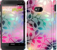 """Чехол на HTC One M7 Листья """"2235c-36"""""""