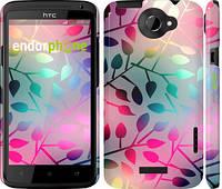 """Чехол на HTC One X+ Листья """"2235c-69"""""""
