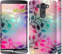 "Чехол на LG G3 dual D856 Листья ""2235c-56"""