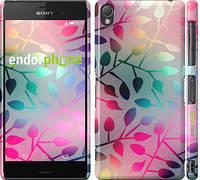 """Чехол на Sony Xperia Z3 dual D6633 Листья """"2235c-59"""""""