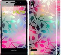 "Чехол на Huawei Ascend P6 Листья ""2235c-39"""