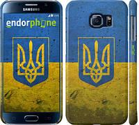 "Чехол на Samsung Galaxy S6 G920 Флаг и герб Украины 2 ""378c-80"""