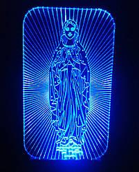 3d-светильник Дева Мария, 3д-ночник, несколько подсветок (батарейка+220В)