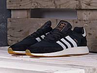 Мужские кроссовки Adidas Iniki Runner Black/White, черные. Код товара : KS 825