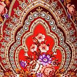 Финифть 341-6, павлопосадский платок (шаль) из уплотненной шерсти с шелковой вязанной бахромой, фото 6